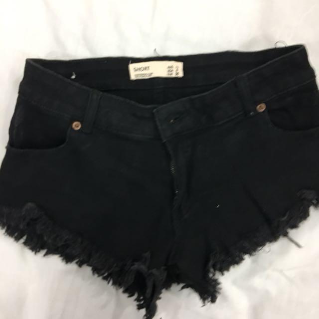 Cotton on black hotpants