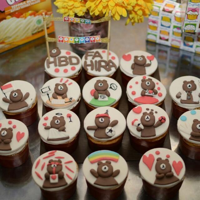 Cupcake Line Ulang tahun Semarang