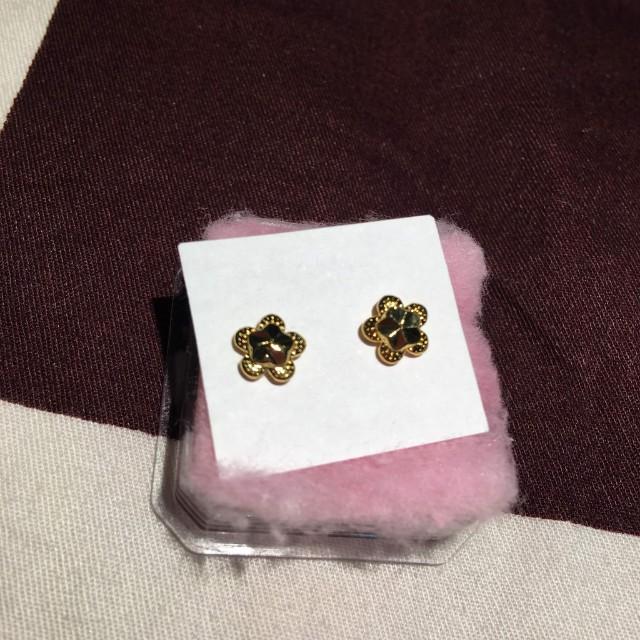 Cute Earrings Coated with 21K Saudi Gold