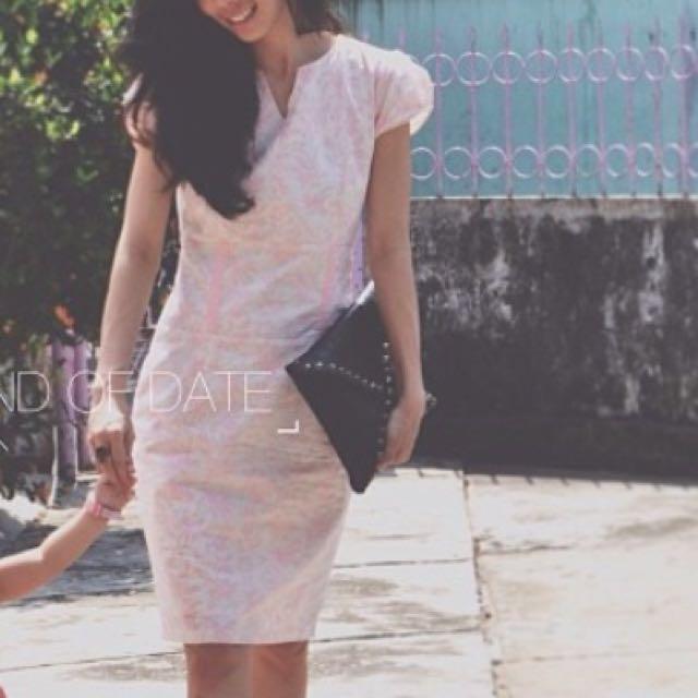 dress batik pastel