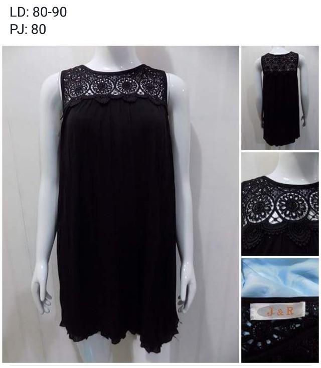 Dress hitam plisket