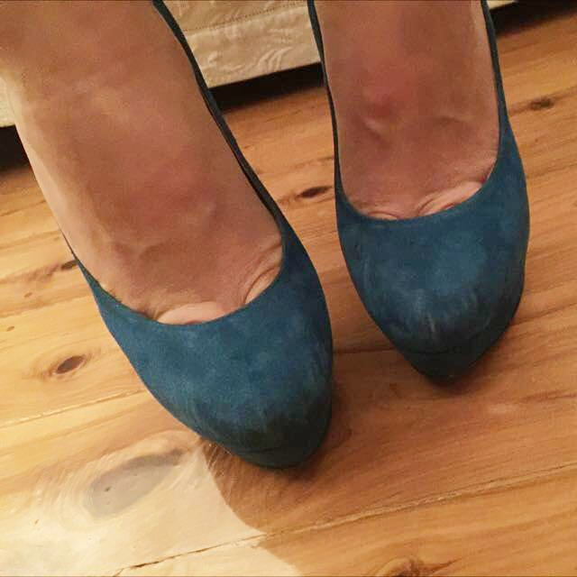 Electric Blue Platforms Size 39