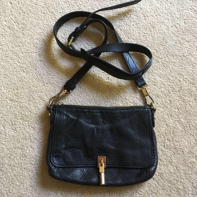 Elizabeth & James black mini sling bag