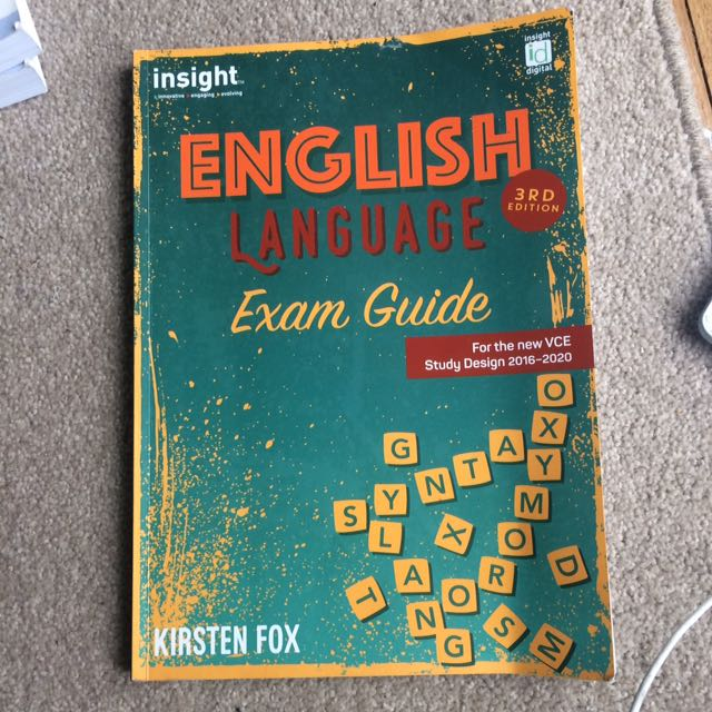 English language vce exam guide