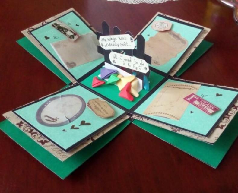 Explosion box / exploding box / gift box #4