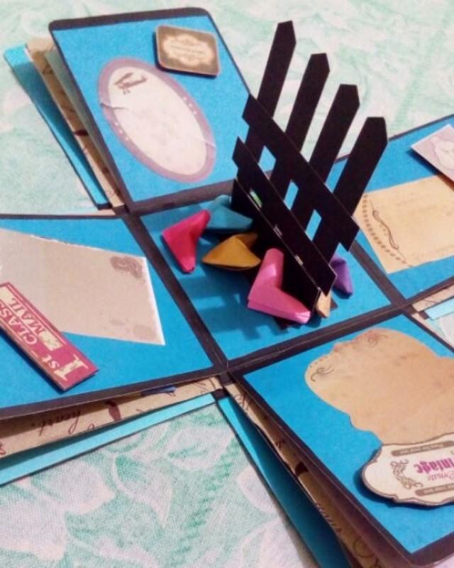 Explosion box / exploding box / gift box #9