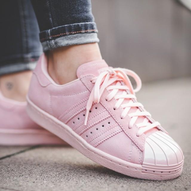 vite!!) adidas superstar 80 metal toe w icy rose, la mode féminine