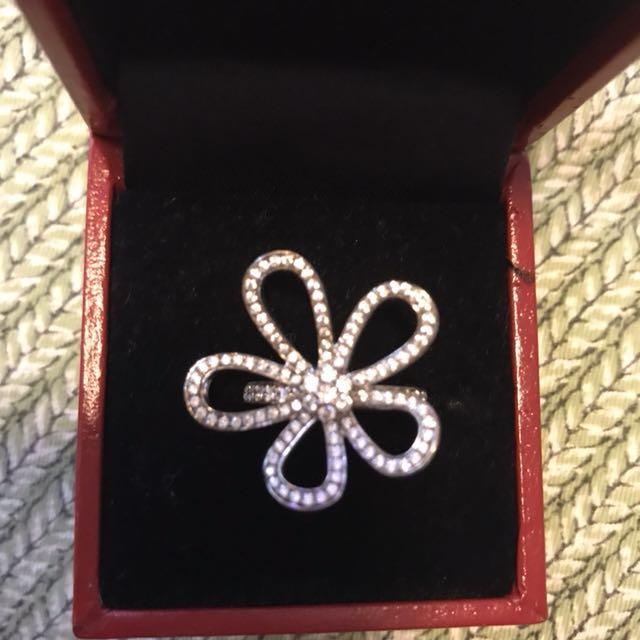 Flower Cubic Zirconia Ring