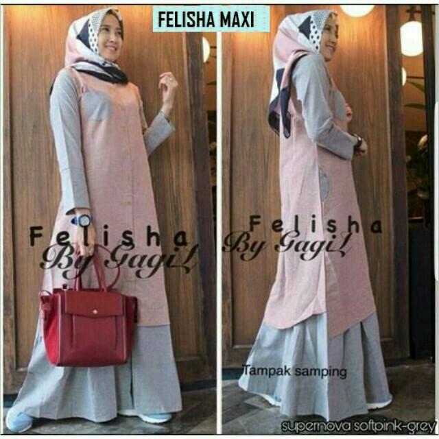 Gamis Maxi Felisha Olshop Fashion Olshop Muslim On Carousell