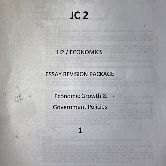 h econs essay revision package textbooks on carousell  econs essay revision package