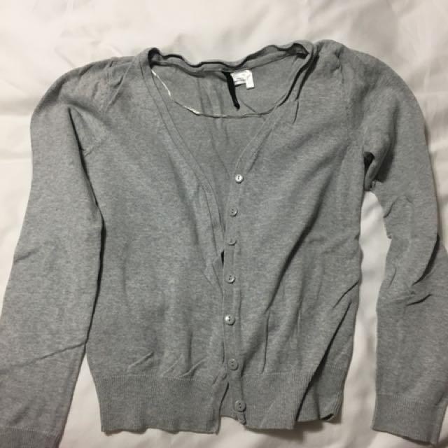 H&M light grey cardigan