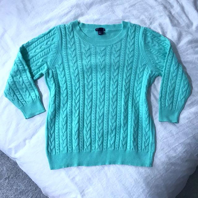 H&M Mint Knitted Sweater Pullover