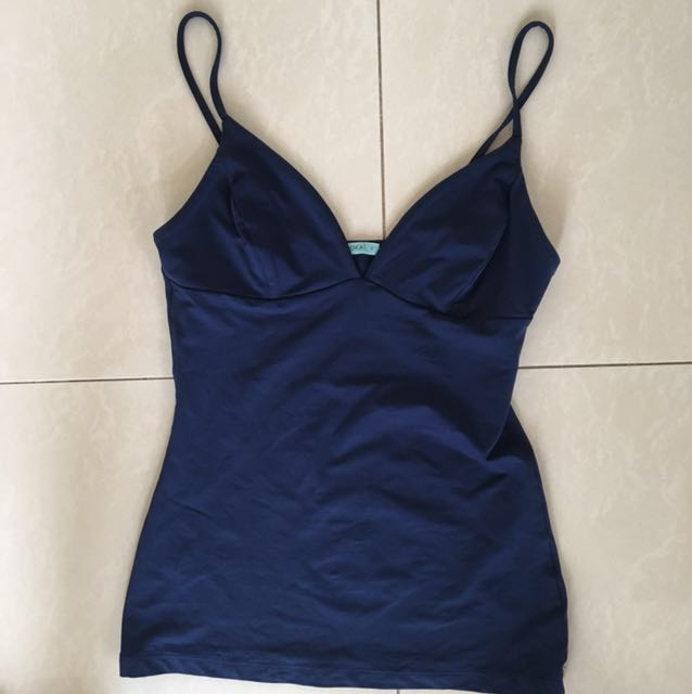 Kookaï Strappy Navy Singlet Top