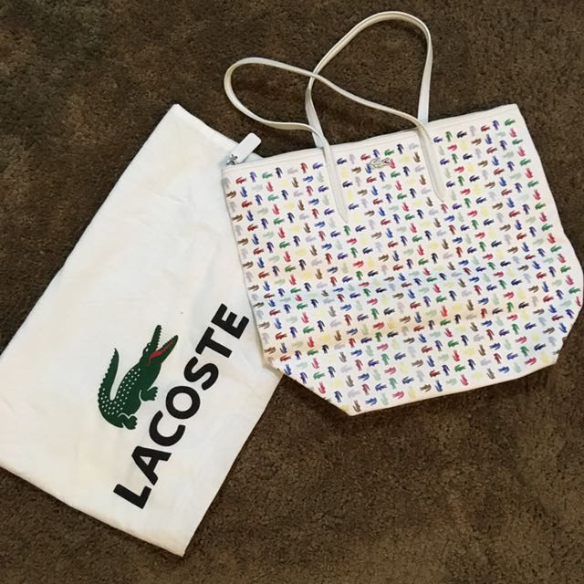 LACOSTE White Shoulder Bag
