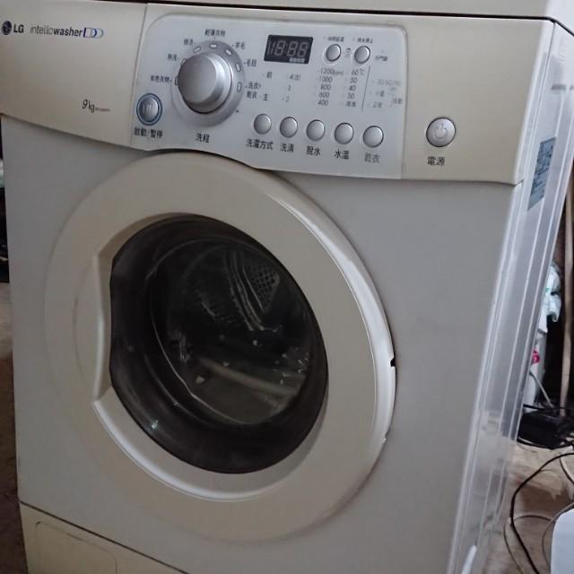 韓國製LG 9公斤洗脫烘滾筒式洗衣機