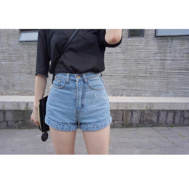 Light Blue Denim Shorts