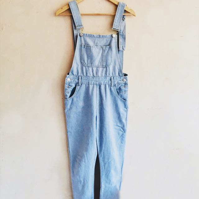 Light-washed Overall Jumper