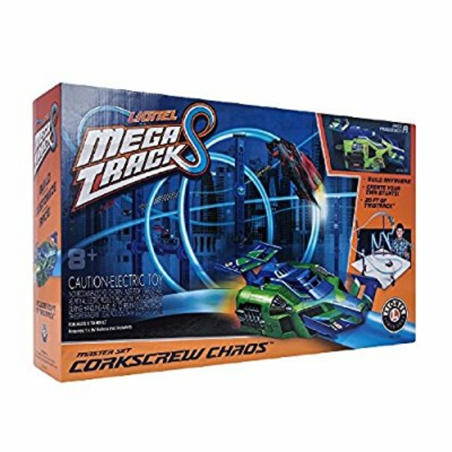Buy for $35!!!!! This is selling at Walmart for $84Lionel Mega Tracks - Corkscrew Chaos Green Engine