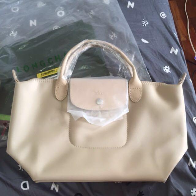 Longchamp neo (beige small authentic overrun
