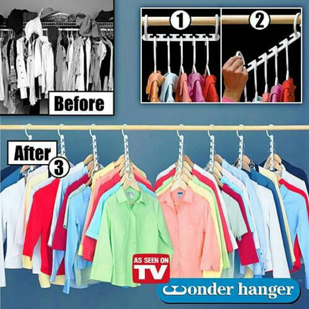 Magic Hanger / Wonder Hanger / Hanger Ajaib gantungan baju