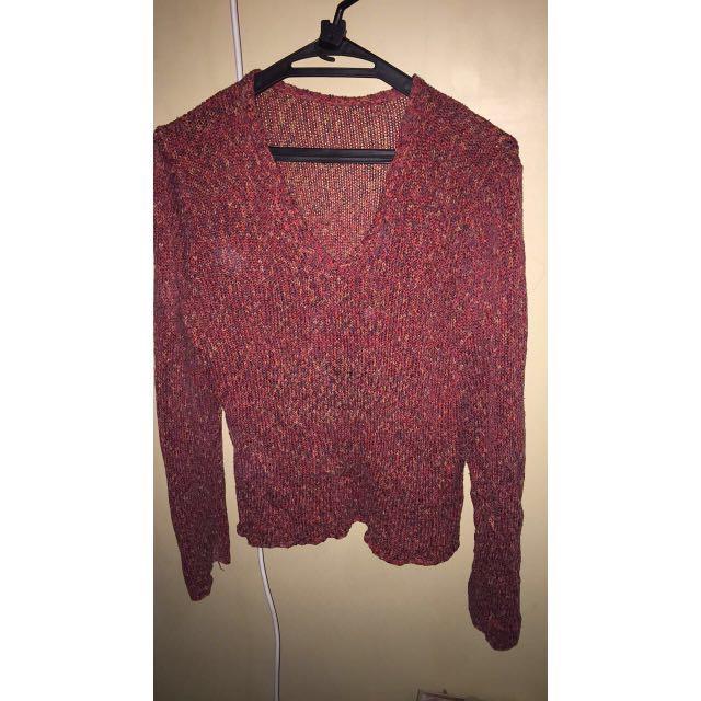Maroon knitwear