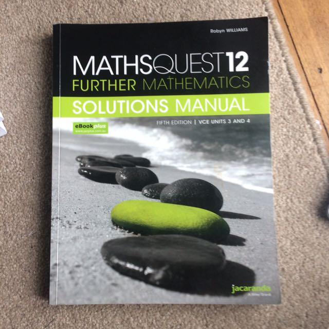 Maths quest 12 further maths