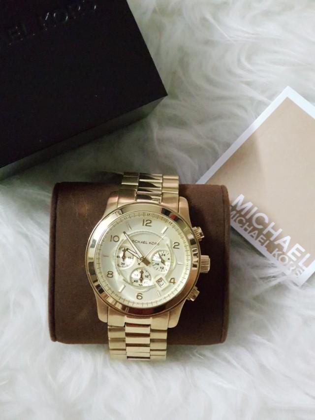 08987578ddcd S 220! Offer! MICHAEL KORS Gold-tone Men s Watch Item No. MK8077 ...