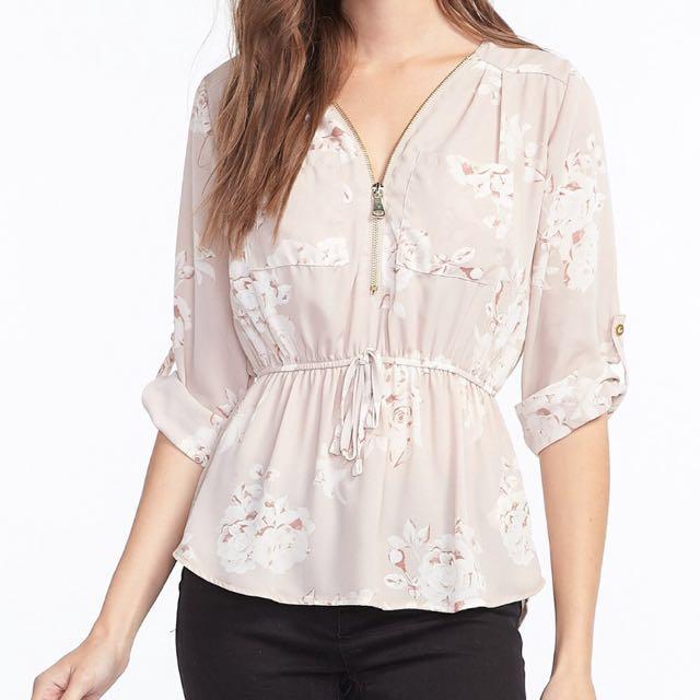 Mid zip blouse