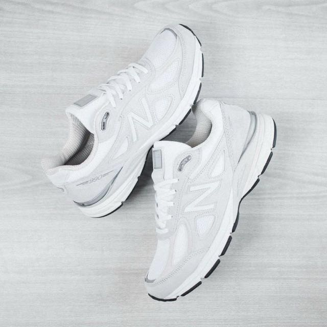 NB  New Balance 990V4 WHITE  男版US7 25CM   MADE IN USA 美版(送NB鞋類清潔組)