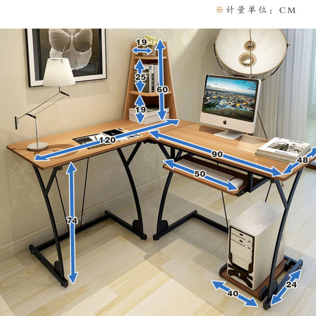 New Modern Multi-Functional L Shape Office Computer Desk Study Table
