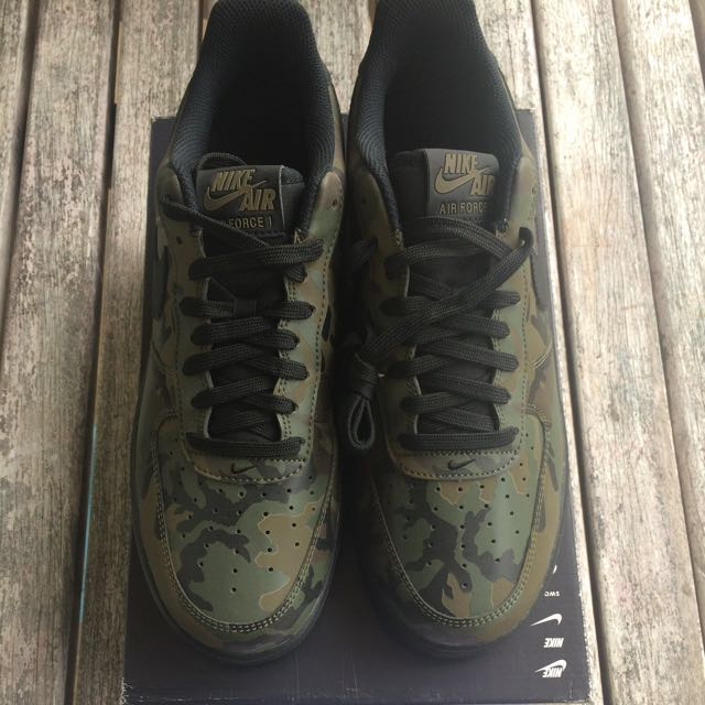 ae18ee1ad1af2 Nike Air Force 1 Woodland Reflective Camo, Men's Fashion, Footwear on  Carousell