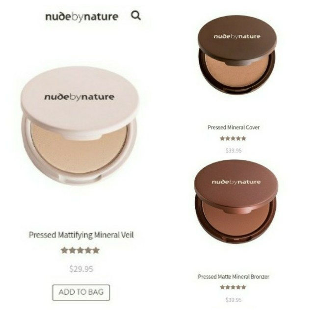 Nude By Nature - brand new set of 3 pressed powders