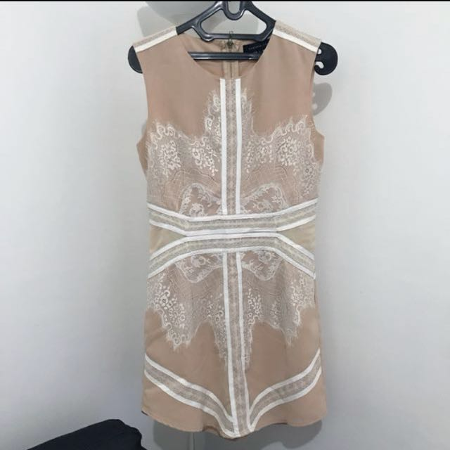 Project RTW Lace Leather Dress