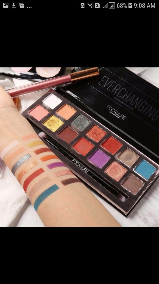 Ready stock focallure everchanging eyeshadow palette