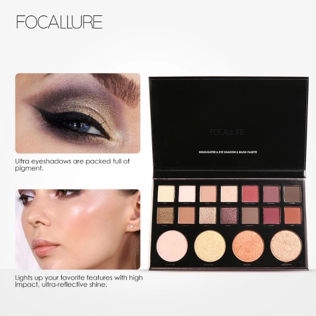 Ready stock focallure focal eyeshadow and highlighter