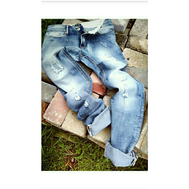 Ripped jeans import patch style