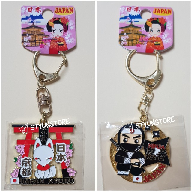 Souvenir Kawaii Keychain from Japan (Fushimi Inari, Ninja)
