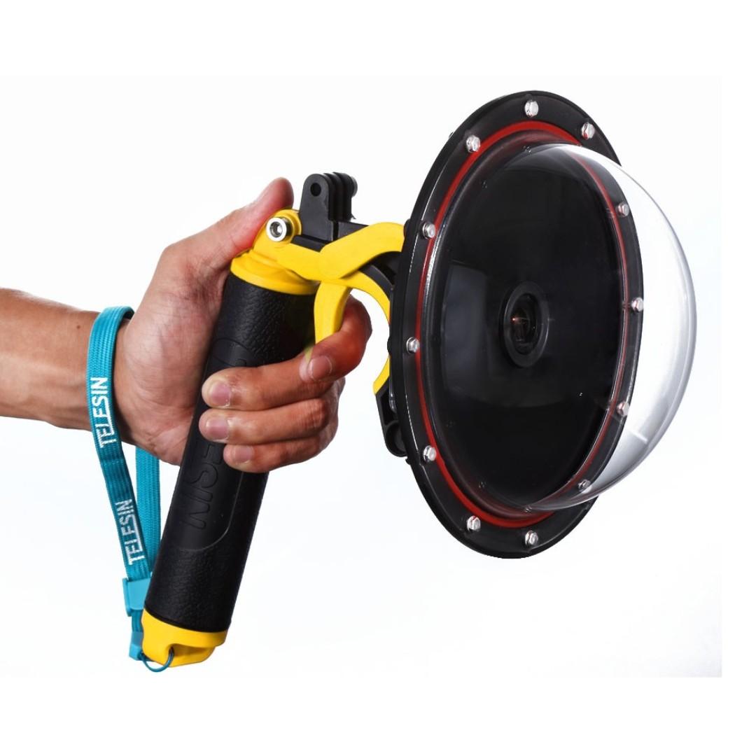"TELESIN 6"" Dome Port Cover Waterproof Case Housing for SJCAM SJ6, SJ7 Action Camera *Free Soft Dome Cover*"