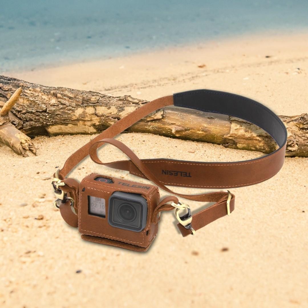 Telesin Premium Handmade Leather Case for Gopro Hero 5/6