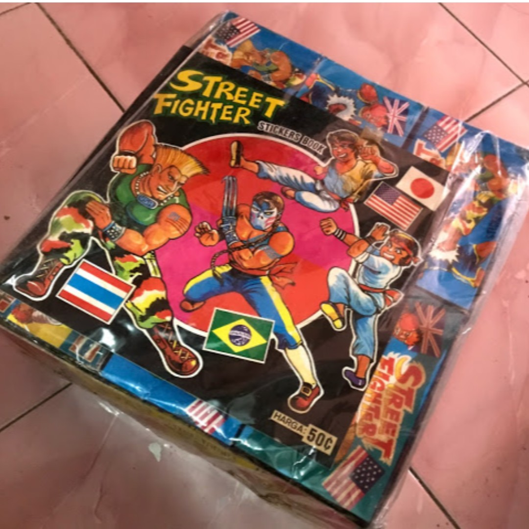 The 90 street fighter sticker collection book included toys games board games cards on carousell