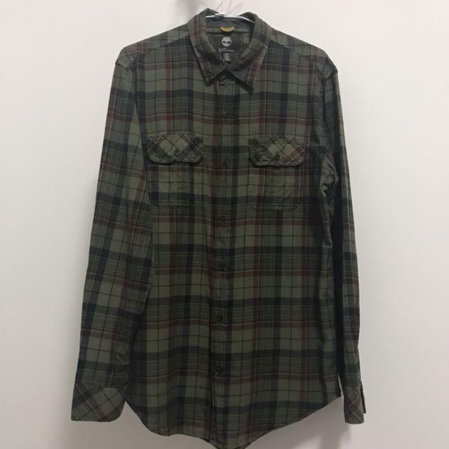 Timberland 格紋長袖襯衫 正品