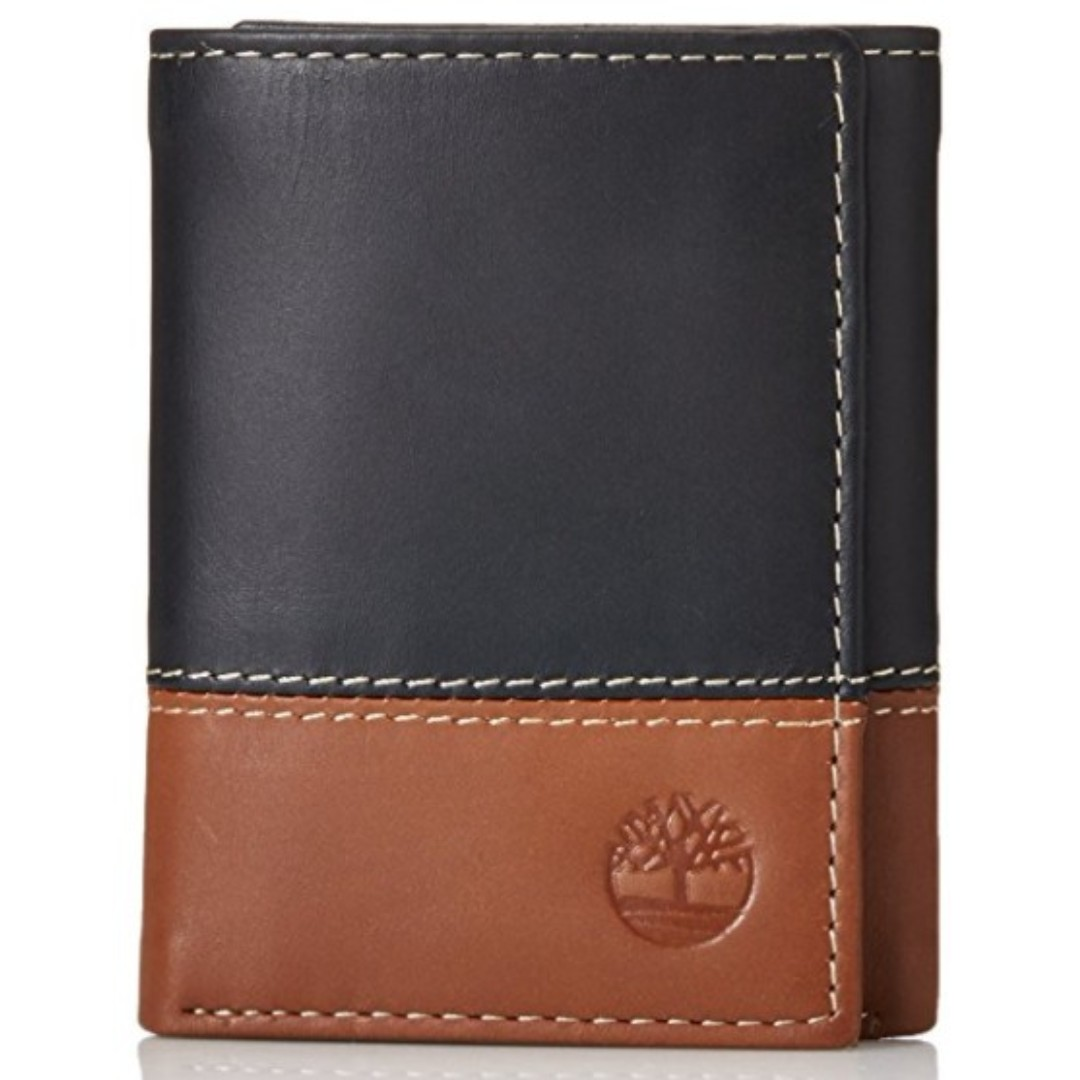 025cc42a3776 Timberland Men's Hunter Color-Block Trifold Wallet Black/Brown BNIB ...