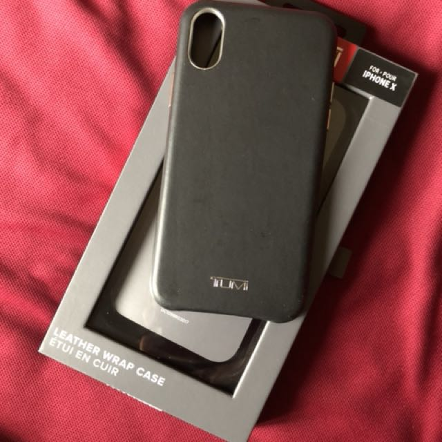 new concept 73989 8fb60 Tumi iPhone X leather case