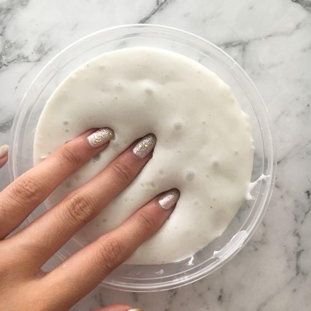 Vanilla Cake Batter Slime - Spreadable, soft, stretchy