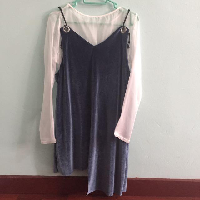 Velvet two piece dress