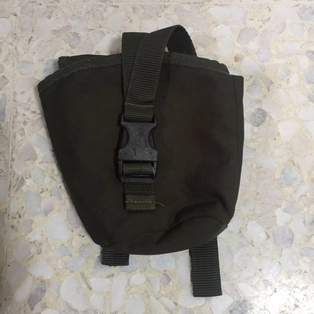 Water bottle pouch army green