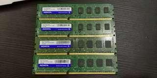 新淨ADATA 1333 4G X4