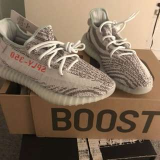 Yeezy 350 boost blue tint size 9
