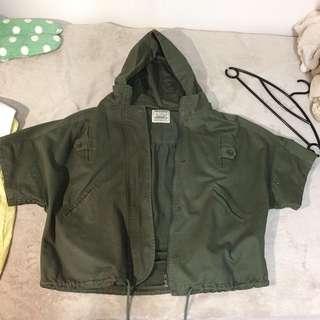 墨綠飛鼠外套