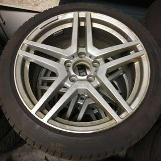Continental winter tires 18 inch Mercedes Benz rims